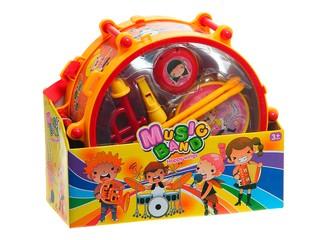 Барабан в коробке с набором муз. инструментов