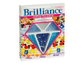 """Набор бусинок Brilliance """"Голубые капельки"""". Вид 1"""
