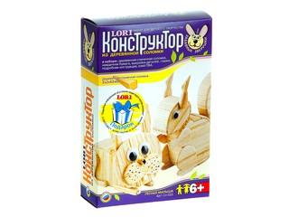 """Конструктор из деревянной соломки """"Лесные малыши"""". Вид 1"""