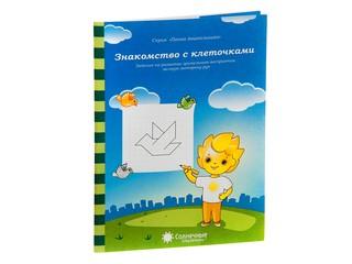 """Папка дошкольника """"Знакомство с клеточками"""". Вид 1"""