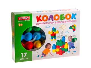 Конструктор колобок 17 дет коробка