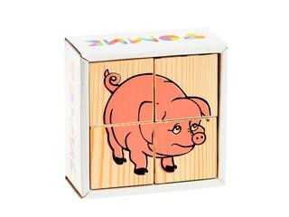 """Кубики 4 шт """"Животные"""". Вид 1"""