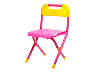 Розовый стул