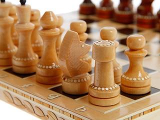 Шахматы обиходные инкрустированные