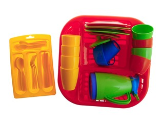 Набор детской посуды алиса 4 с сушилкой
