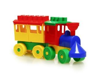 Паровоз с одним вагоном. Вид 2