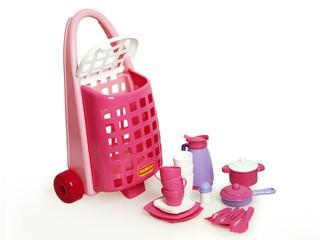 Детская посуда с тележкой