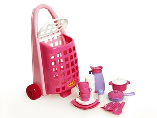 Детская посуда с тележкой. Вид 3