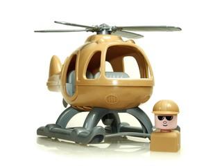 Вертолет военный. Вид 3