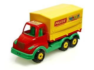 Крытый грузовик с наклейками