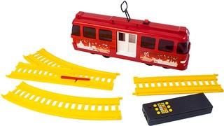 Трамвай с рельсами