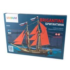 Сборная модель Умная бумага Бригантина