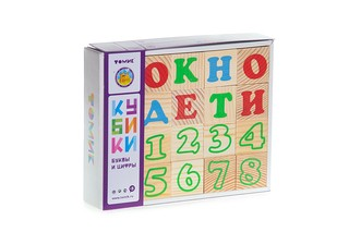 Кубики Томик Буквы и цифры