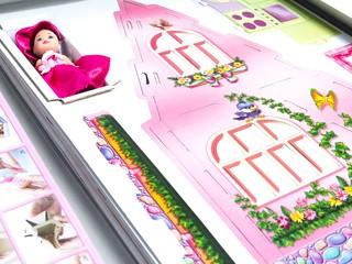 Розовый домик с куклой