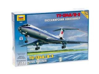 Пассажирский авиалайнер ТУ-134. Вид 1