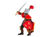 Рыцарь в шлеме с пером красный. Вид 1