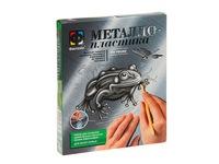 Металлопластика на пруду лягушка. Вид 1