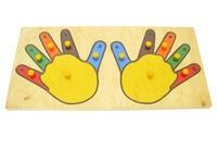 """Игрушка детская деревянная """"Руки (пальцы)"""". Вид 1"""