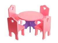 Мебель кукольная столик стульчики сб