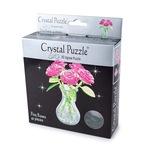 3D Головоломка Crystal Puzzle Букет в вазе розовый
