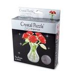 3D головоломка Crystal Puzzle Букет в вазе красный