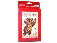 Выжигание в рамке (Медведь)