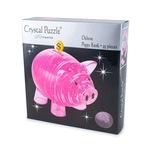3D Головоломка Crystal Puzzle Копилка свинья розовая