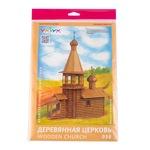 Сборная модель Умная бумага Деревянная церковь