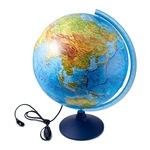 Интерактивный глобус Земли Globen Физико-политический с подсветкой 32 см
