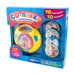 Музыкальная игрушка Азбукварик CD-плеер с огоньками Песенки и сказки