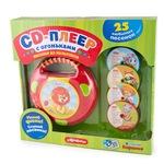 Музыкальная игрушка Азбукварик CD-плеер с огоньками Песенки из мультиков