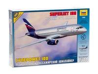 Региональный пассажирский авиалайнер Суперджет 100. Вид 1