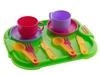Набор посуды с подносом минутка на 2 персоны. Вид 2