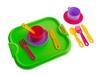 Набор посуды с подносом минутка на 2 персоны. Вид 3