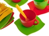 Набор детской посуды алиса 4 с сушилкой. Вид 3
